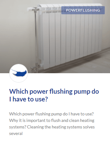 which power flushing pump do I have to use