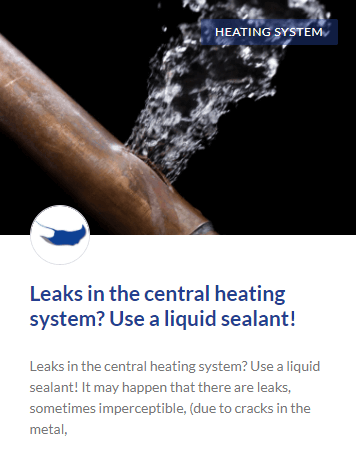 Leaks in the central heating system